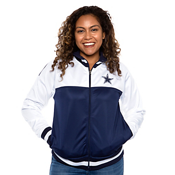 Dallas Cowboys Womens Faceoff Track Jacket