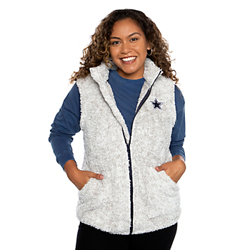 Dallas Cowboys Womens Emma Sherpa Vest