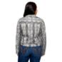 Studio Fate Snake Print Suede Moto Jacket