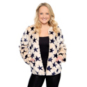 Studio Chaser Womens Star Print Faux Fur Jacket