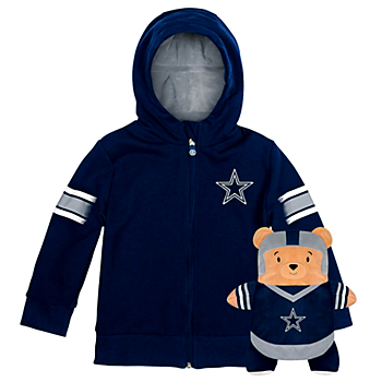 Dallas Cowboys Youth Team Mascot Cubcoat Plush Hoodie
