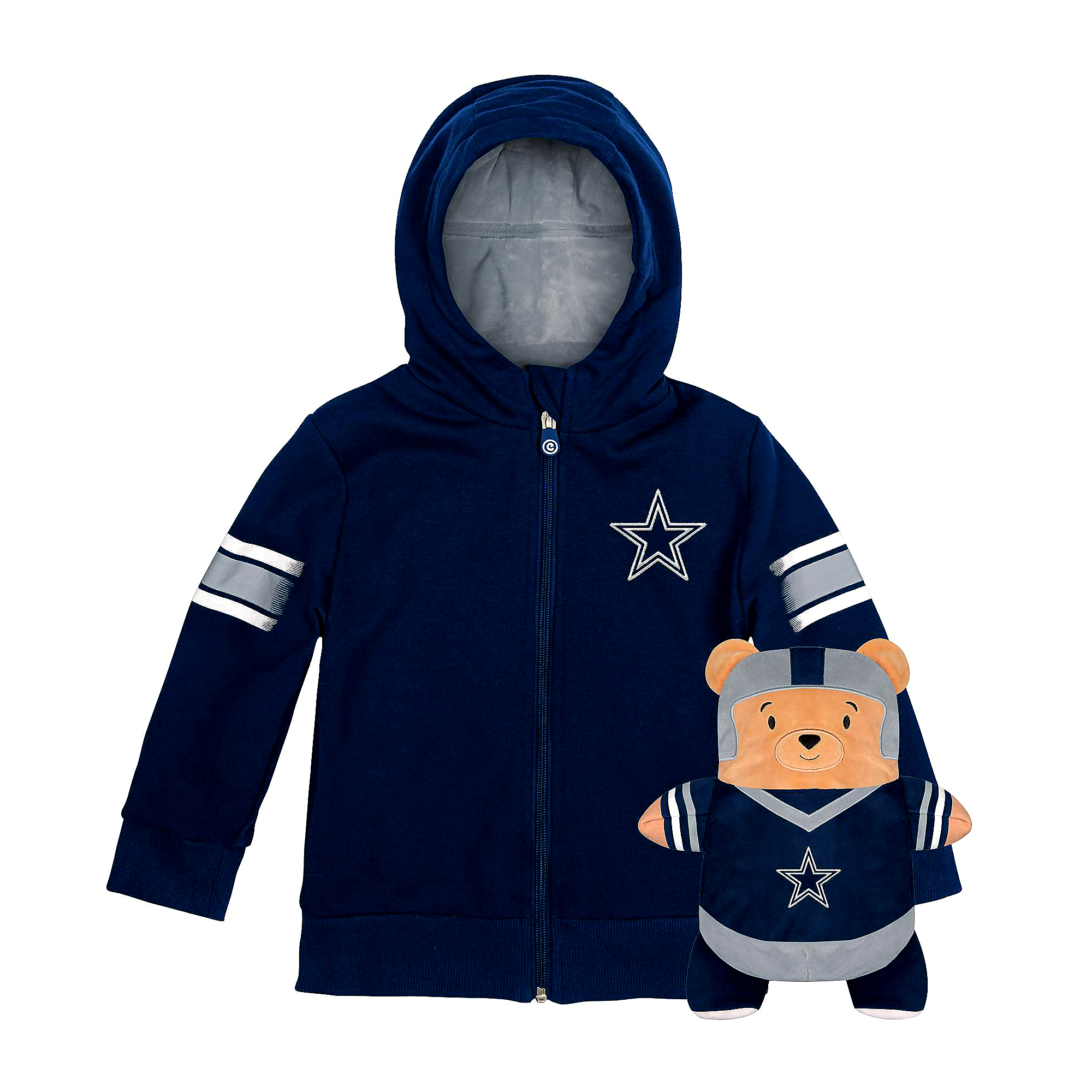 Dallas Cowboys Youth Team Mascot Cubcoat Plush Hoodie