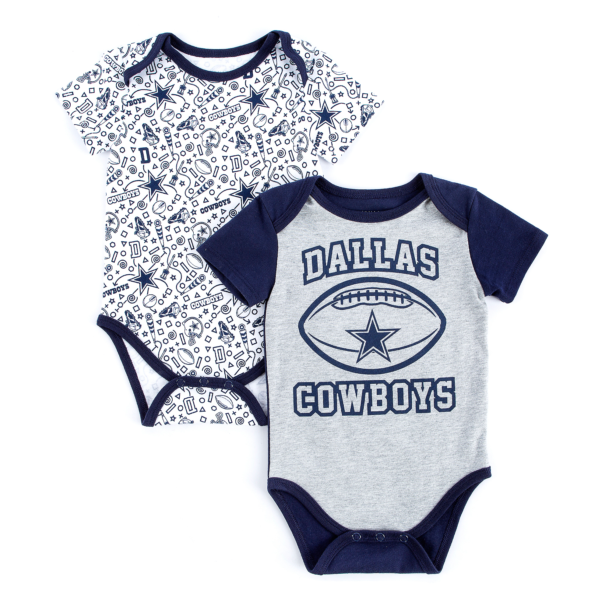 Dallas Cowboys Infant Goodwin Short Sleeve 2-Pack Bodysuit Set