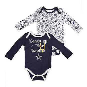 Dallas Cowboys Infant Phillip Long Sleeve 2-Pack Bodysuit Set