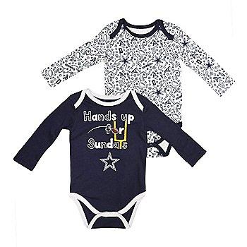 Dallas Cowboys Infant Phillip Long Sleeve 2-Pack Bodysuit Set