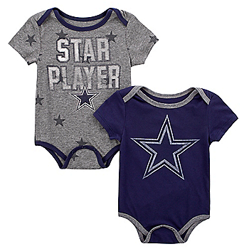 Dallas Cowboys Infant Mayfield 2-Pack Bodysuit Set