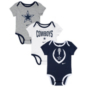 Dallas Cowboys Nike Infant Nowstalgic Icon 3-Pack Bodysuit Set