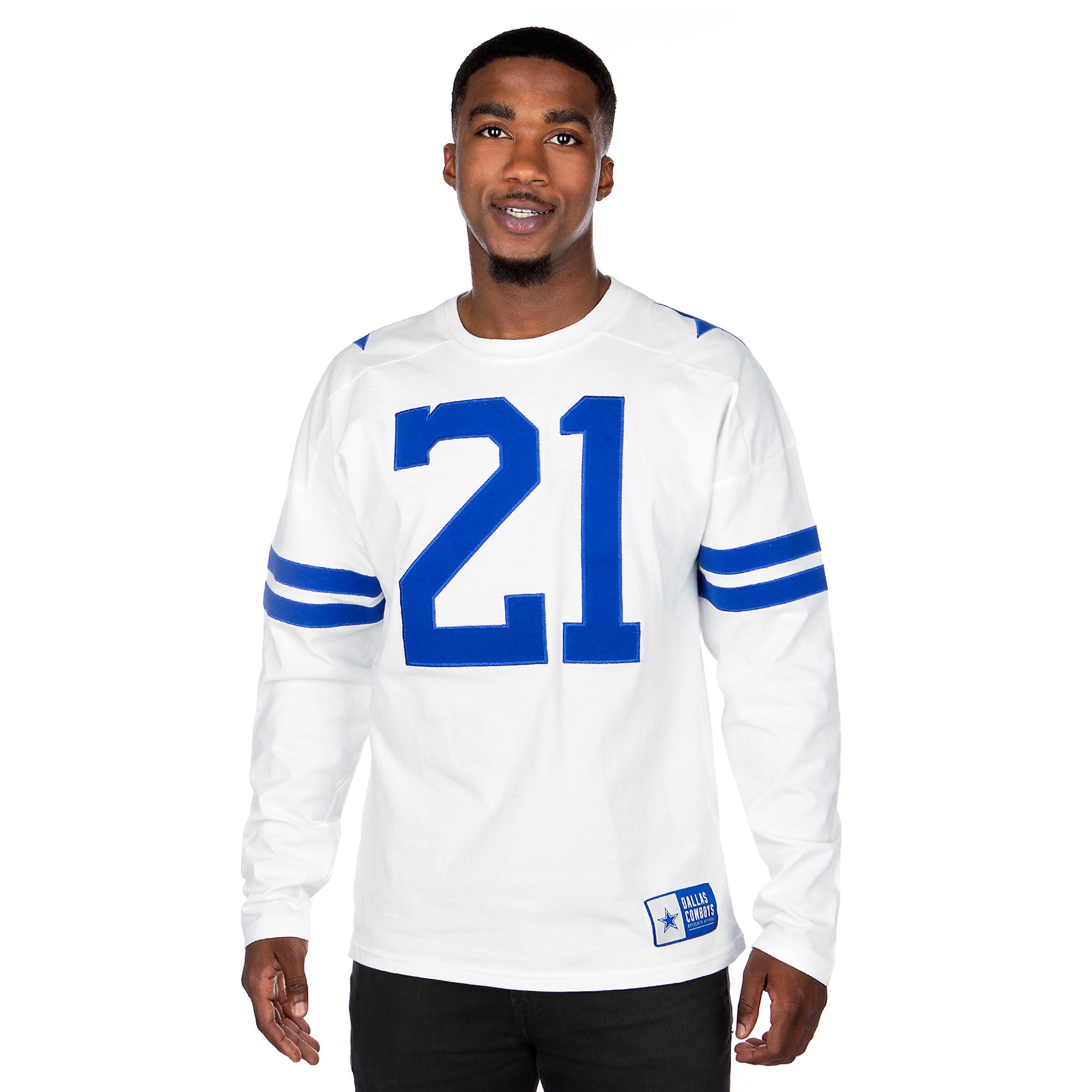 hot sale online 84bb8 70909 Dallas Cowboys Mens Legacy Ezekiel Elliott Jersey T-Shirt | Fans United