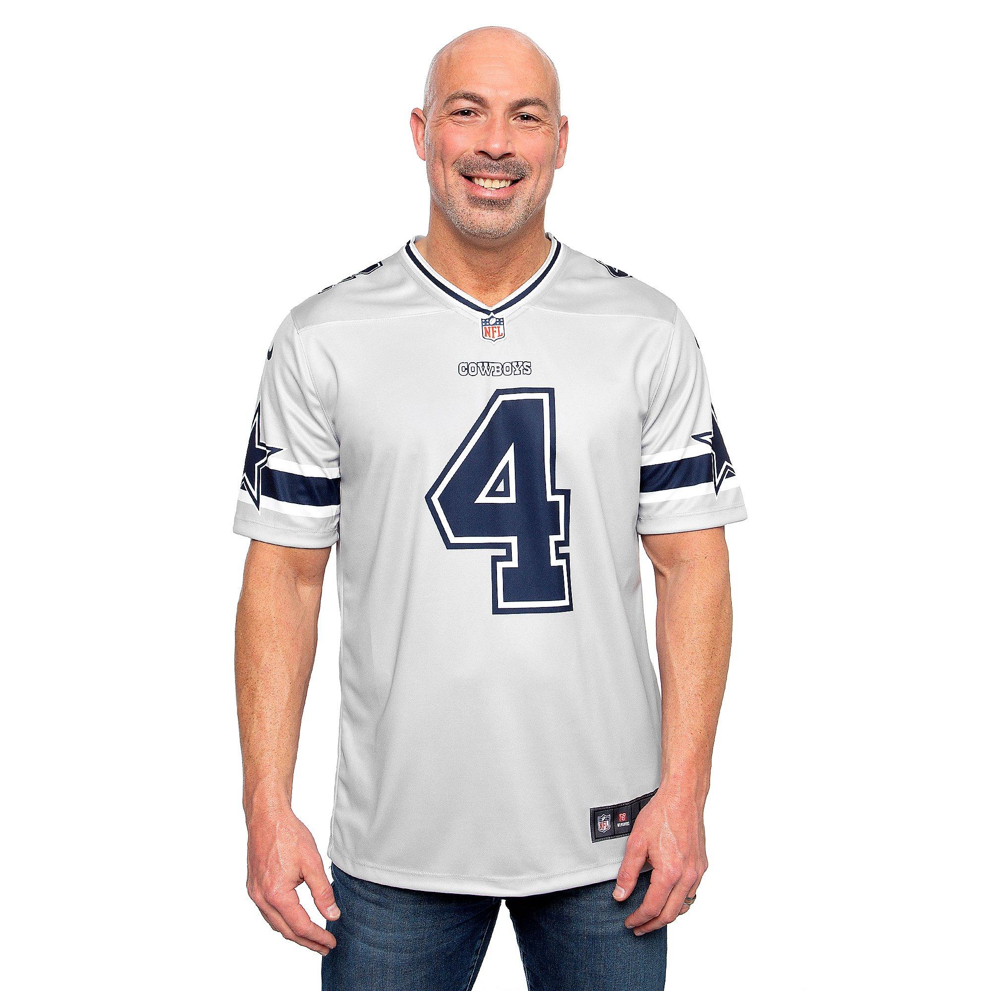 Dallas Cowboys Dak Prescott #4 Nike Legend Secondary Team Jersey T ...