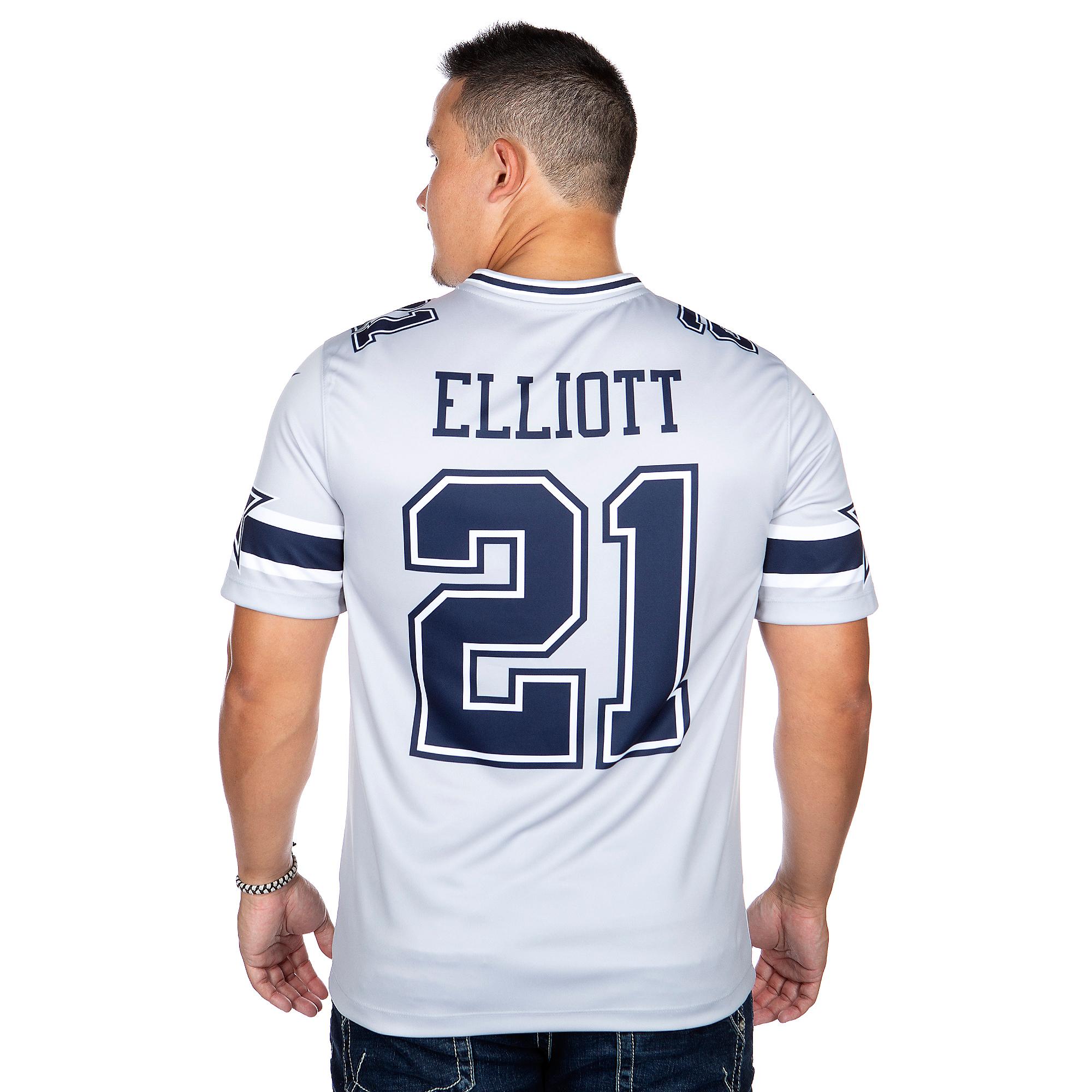 hot sales 60a50 47f92 Dallas Cowboys Ezekiel Elliott #21 Nike Legend Secondary ...