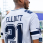 Dallas Cowboys Ezekiel Elliott #21 Nike Legend Secondary Team Jersey T-Shirt