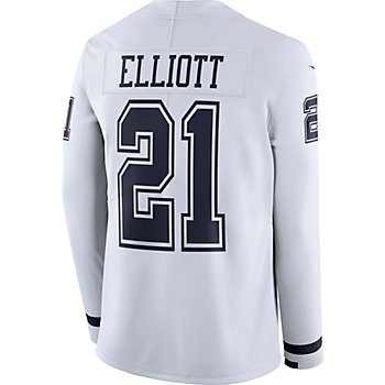 Dallas Cowboys Ezekiel Elliott #21 Nike White Therma Jersey