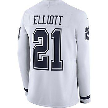 Dallas Cowboys Ezekiel Elliott #21 Nike White Therma Jersey