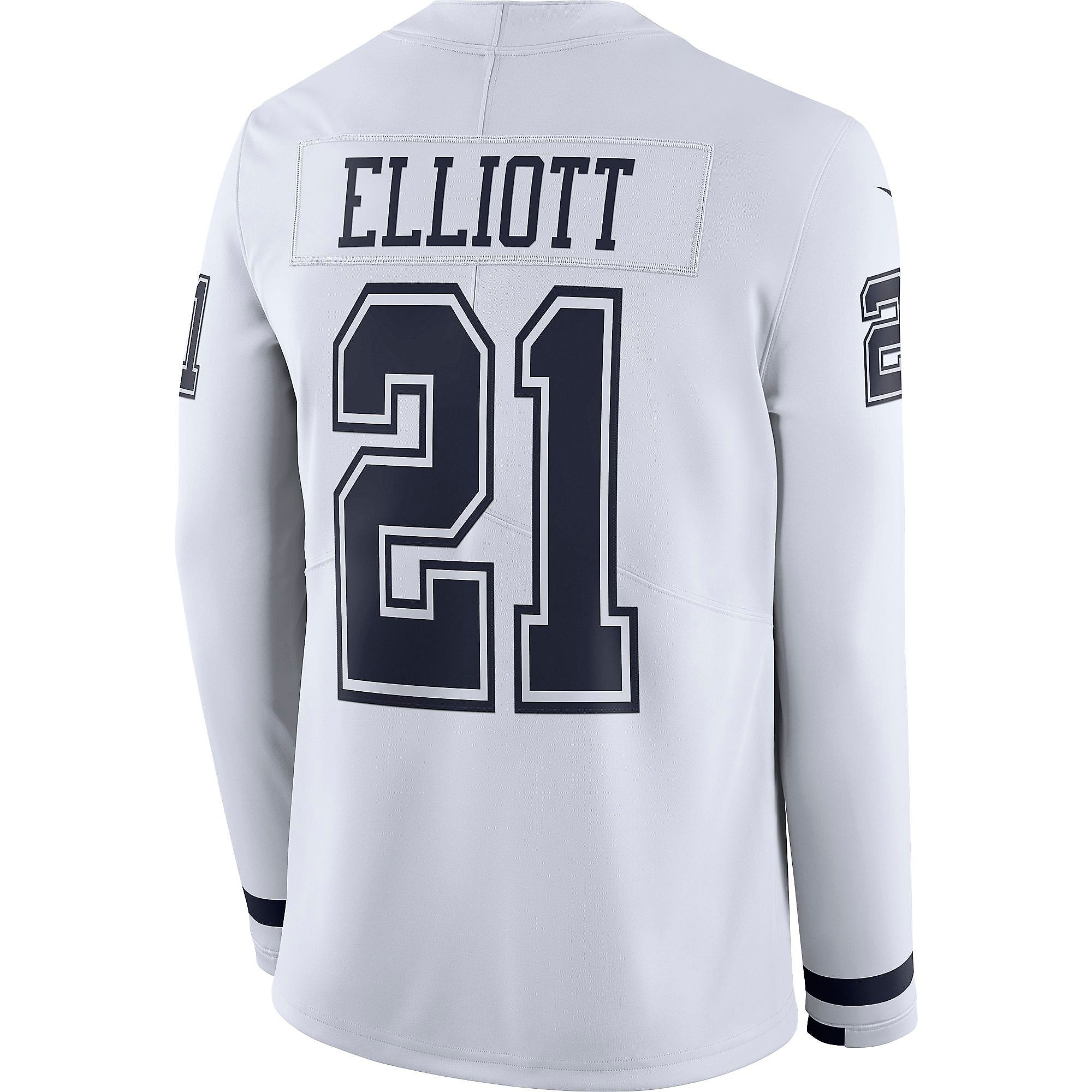 Dallas Cowboys Ezekiel Elliott #21 Nike White Therma Jersey ...