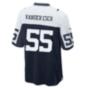 Dallas Cowboys Leighton Vander Esch #55 Nike Game Replica Throwback Jersey