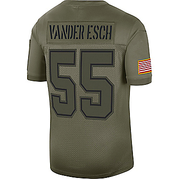 Dallas Cowboys Leighton Vander Esch #55 Nike Limited Salute To Service Jersey