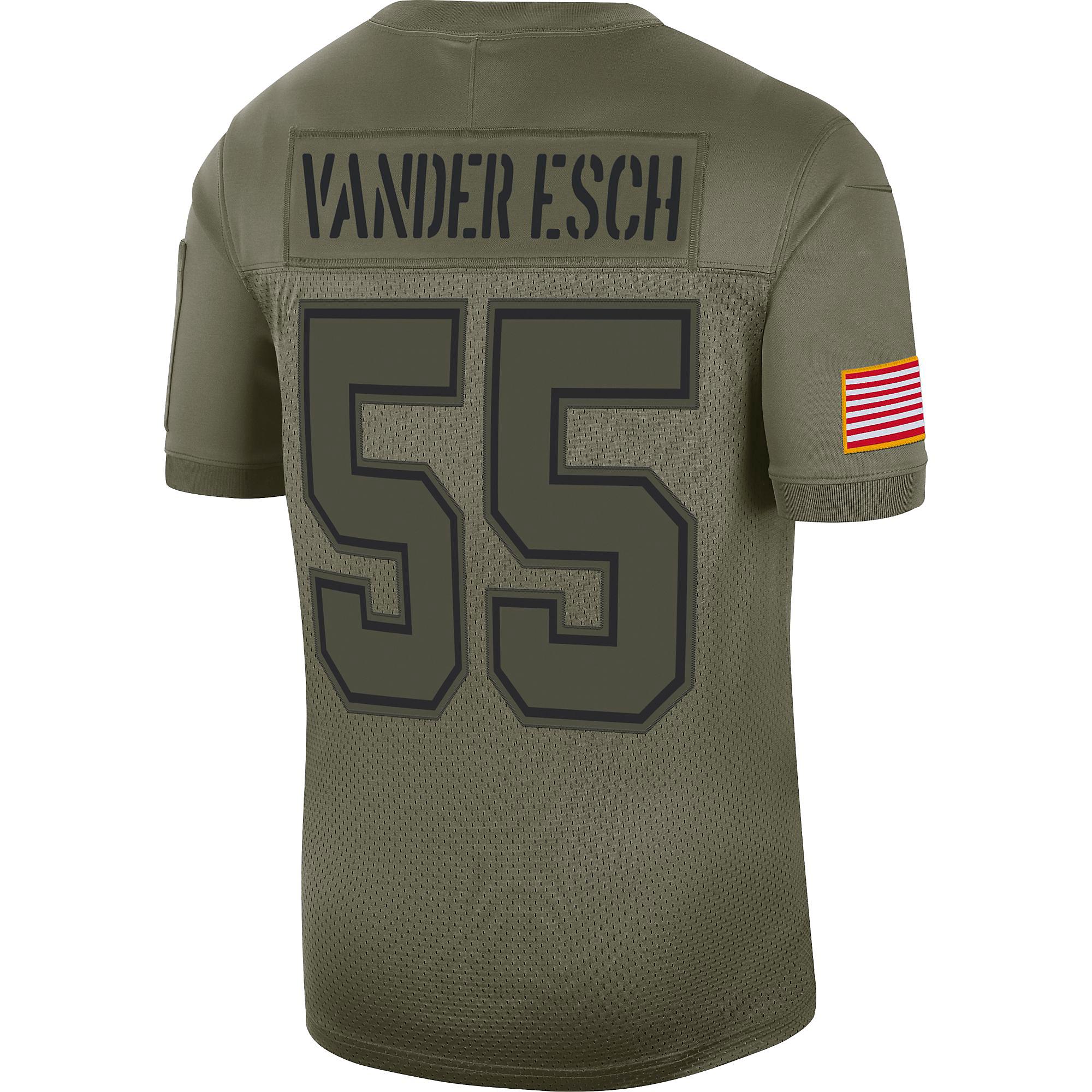Dallas Cowboys Leighton Vander Esch #55 Nike Limited Salute To Service Jersey