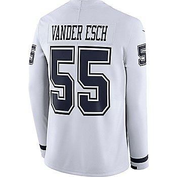 Dallas Cowboys Leighton Vander Esch #55 Nike White Therma Jersey