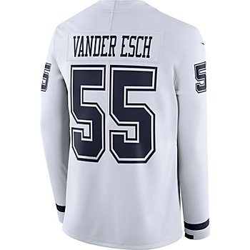 Dallas Cowboys Leighton Vander Esch #55 Nike White Therma Jersey