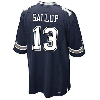 Dallas Cowboys Michael Gallup #13 Nike Navy Game Replica Jersey