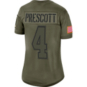 Dallas Cowboys Womens Dak Prescott #4 Nike Limited Salute To Service Jersey