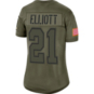Dallas Cowboys Womens Ezekiel Elliottt #21 Nike Limited Salute To Service Jersey