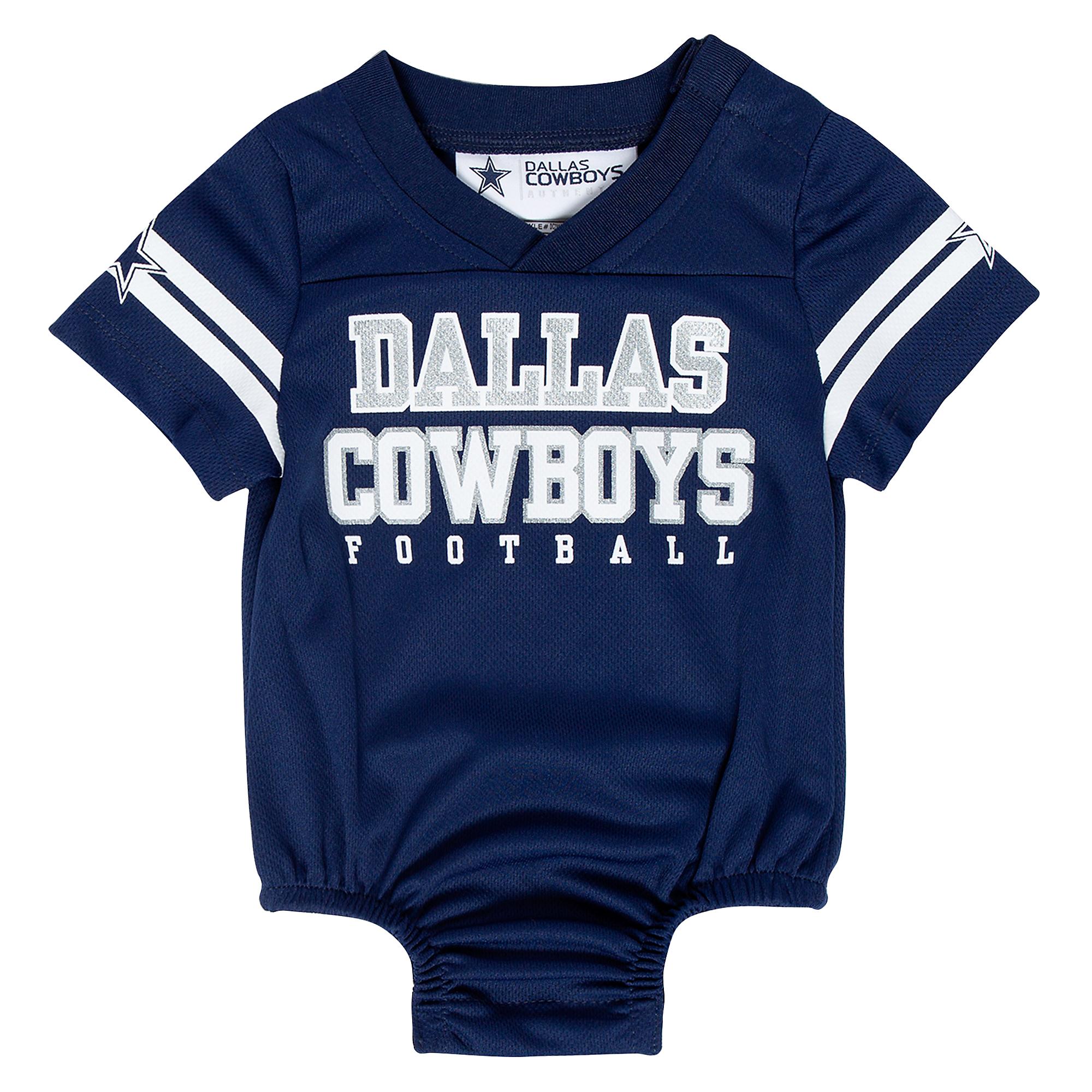 Dallas Cowboys Infant Kayson Jersey Bodysuit