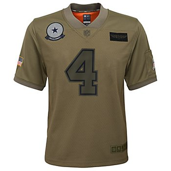 Dallas Cowboys Youth Dak Prescott #4 Nike Limited Salute To Service Jersey