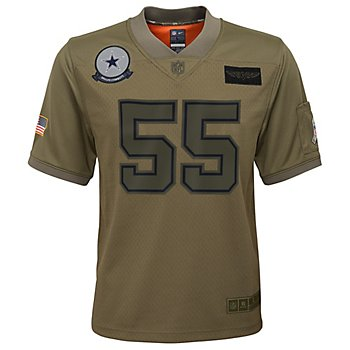 Dallas Cowboys Youth Leighton Vander Esch #55 Nike Limited Salute To Service Jersey
