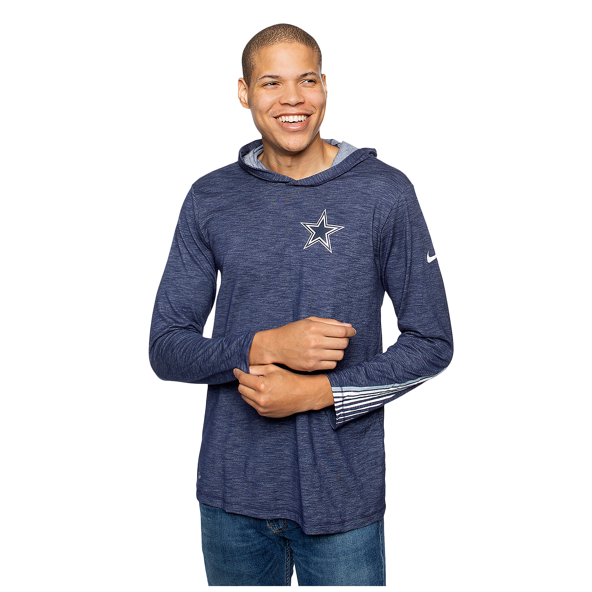 Dallas Cowboys Nike Mens Dri-FIT Scrimmage Long Sleeve Hooded T-Shirt
