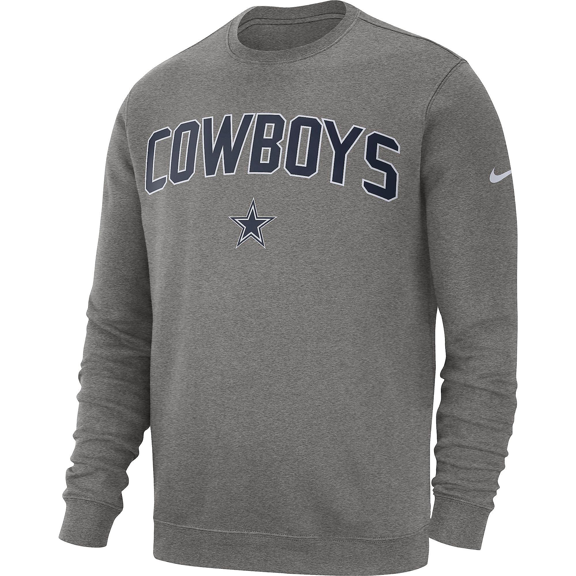 d055a26842829 Dallas Cowboys Nike Mens Fleece Club Crew Sweatshirt   Dallas ...