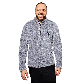 Dallas Cowboys Mens Caspian Sherpa Quarter-Zip Pullover