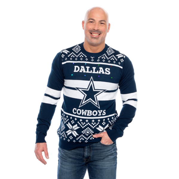 Dallas Cowboys Mens Light Up Ugly Sweater