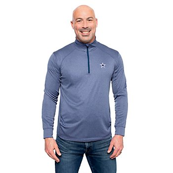 Dallas Cowboys Vineyard Vines Mens Cationic Heather Quarter-Zip Pullover