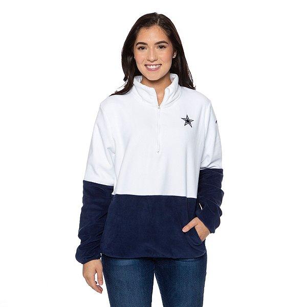 Dallas Cowboys Nike Womens Therma Half-Zip Fleece Pullover