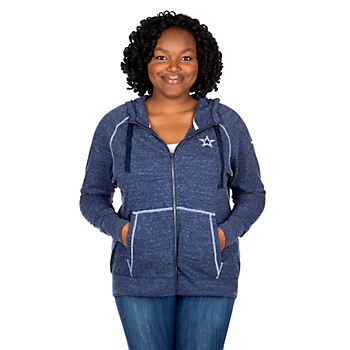 Dallas Cowboys Womens Plus Size Gym Vintage Hoodie
