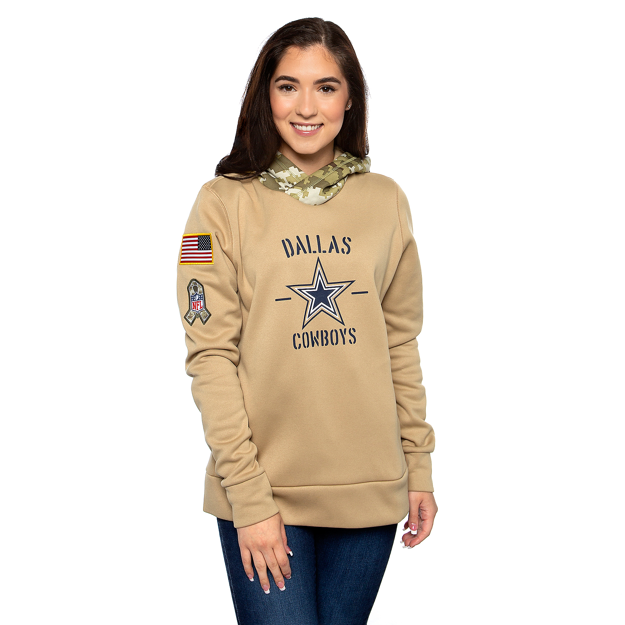 Dallas Cowboys Nike Womens Salute to Service Therma Hoody