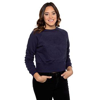 Dallas Cowboys Womens Scarlett Embossed Cropped Sweatshirt