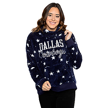 Dallas Cowboys Womens Lucia Sherpa Pullover Hoodie