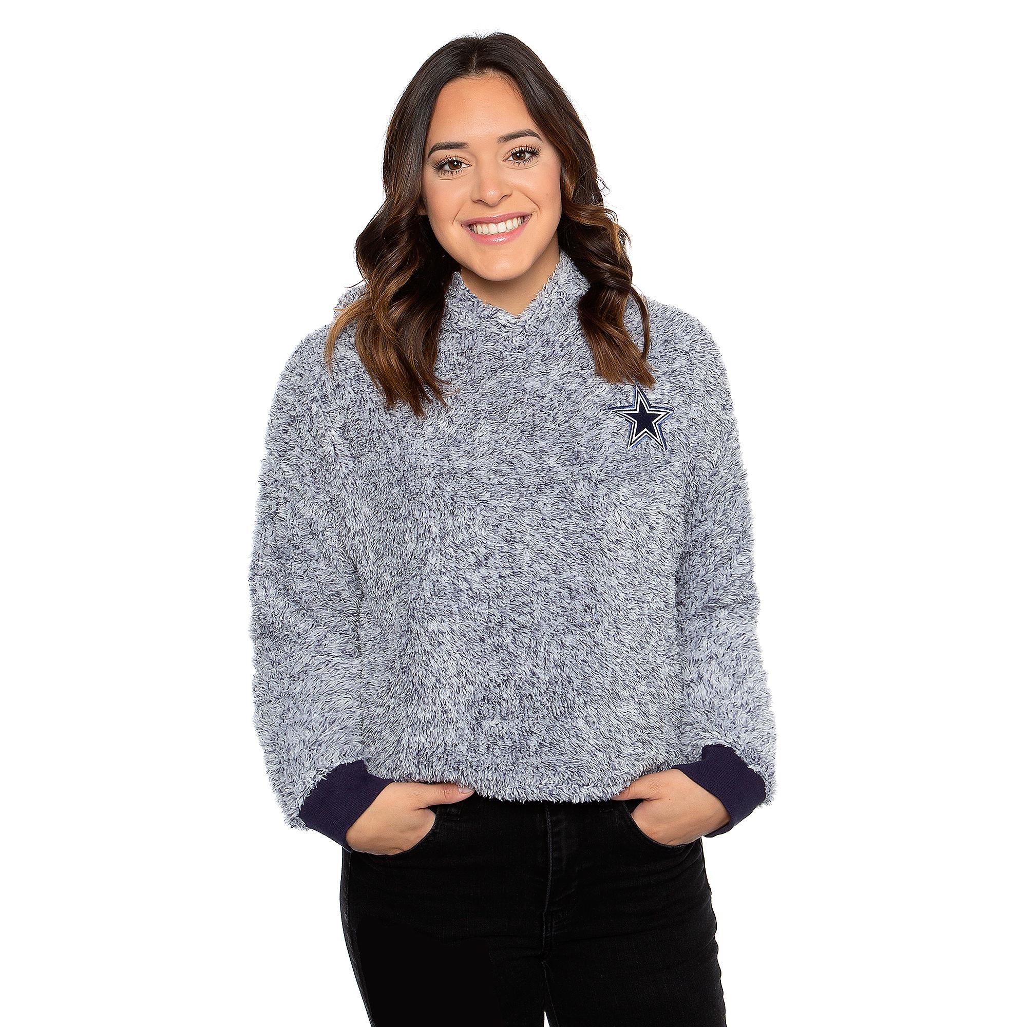 Dallas Cowboys Womens Kiara Sherpa Pullover Hoodie