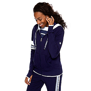 Dallas Cowboys WEAR By Erin Andrews Womens Logo Drawstring Full-Zip Hoodie