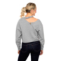 KadyLuxe Womens Dog Collar Cropped Pullover