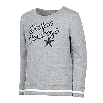 Dallas Cowboys Girls Claire Crew Neck Pullover