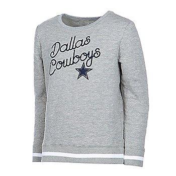 Dallas Cowboys Girls Claire Crew Neck Pullover