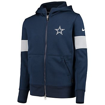 Dallas Cowboys Nike Youth Therma Full-Zip Hoodie