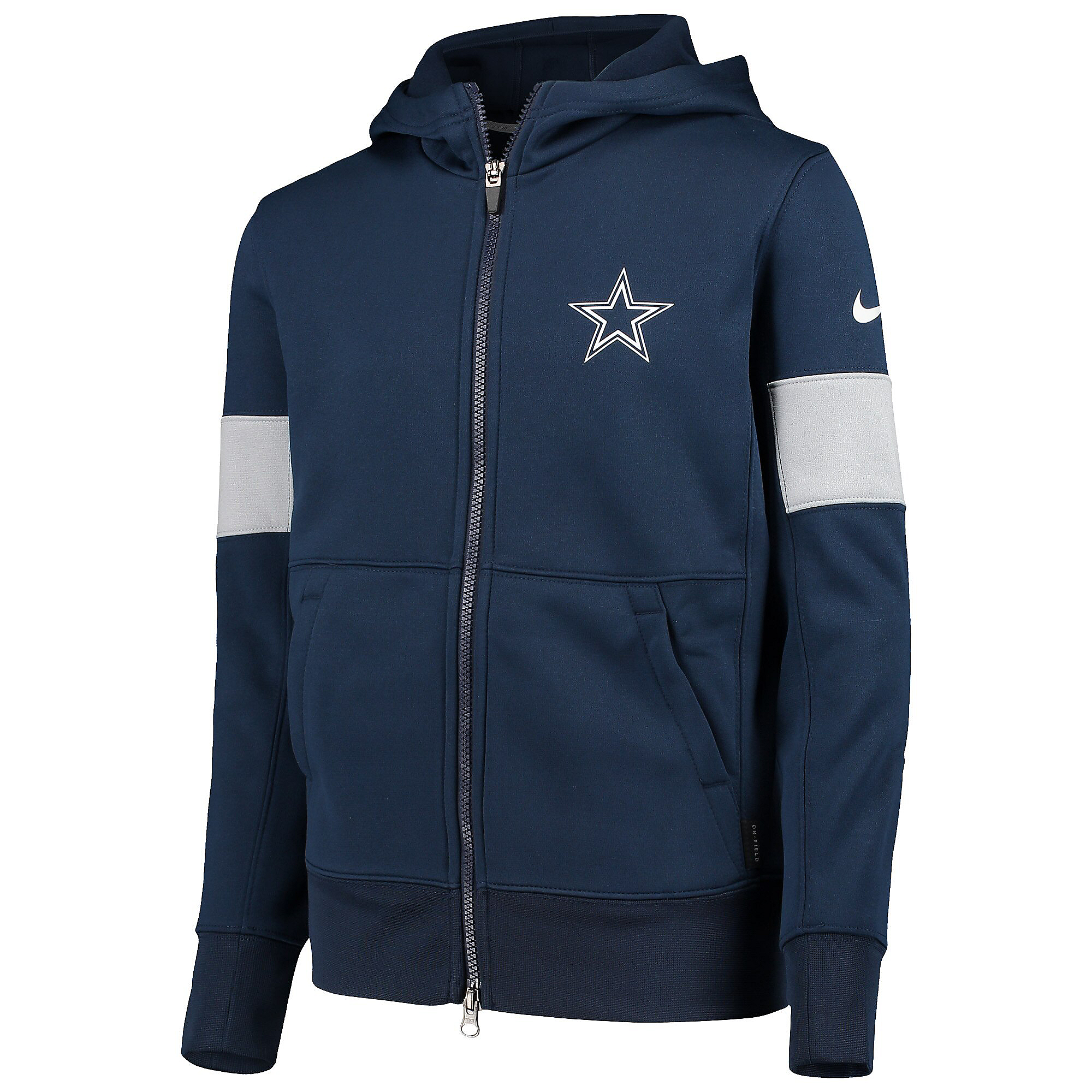 Dallas Cowboys Nike Youth Therma Full-Zip Hoodie