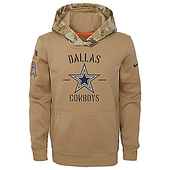 Dallas Cowboys Nike Youth Salute to Service Therma Hoody