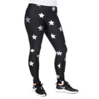 Studio Terez Black Star Silver Foil Legging