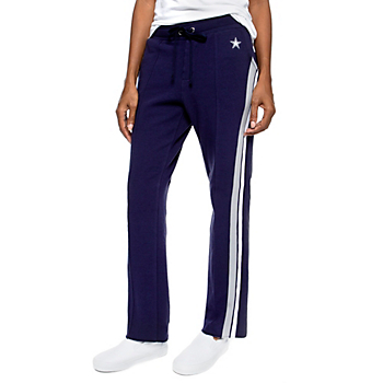 Dallas Cowboys WEAR By Erin Andrews Womens Side Stripe Track Pant