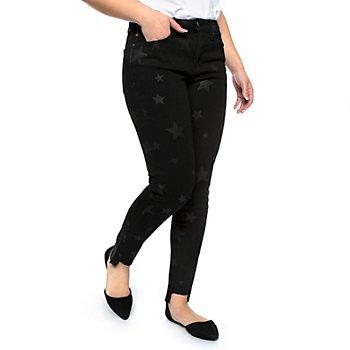 Dear John Gisele Star Print Ankle Skinny Jeans